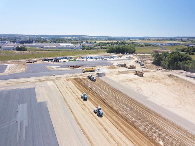 Photo drone Chateauroux suivi chantier