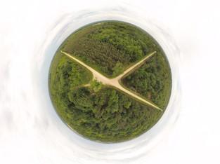 Photo panoramique 360° par drone d'une propriété, agence immobilière à Poitiers, Vienne 86