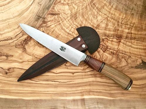 Bois nobles combinés Lame carbone 16 cm Couteau gaucho argentin