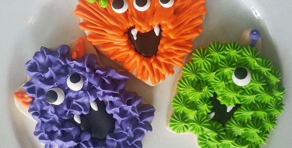 Happy Monster Decorated Sugar Cookies