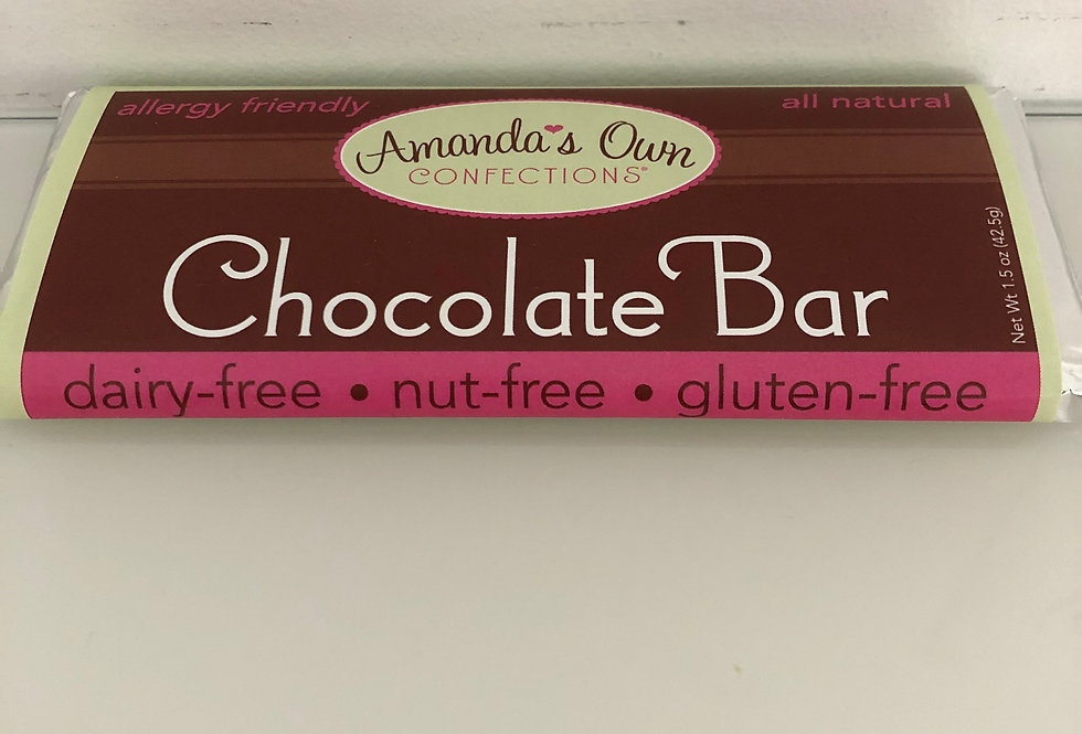 """""""Amanda's Own"""" Dark Chocolate Nut-Free Bars"""