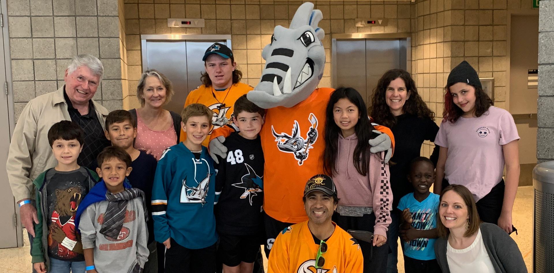 Adoption Awareness Day at SJ Barracudas Hockey