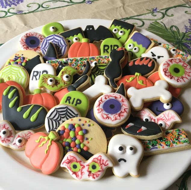 Halloween cookie platter