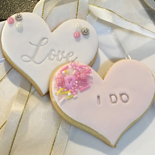 Embossed wedding favours