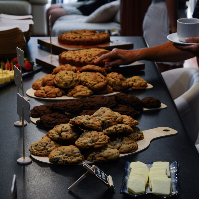 Chunky cookie platters