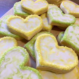 Marbled & sprinkled hearts