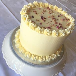 Classic white chocolate and vanilla cake