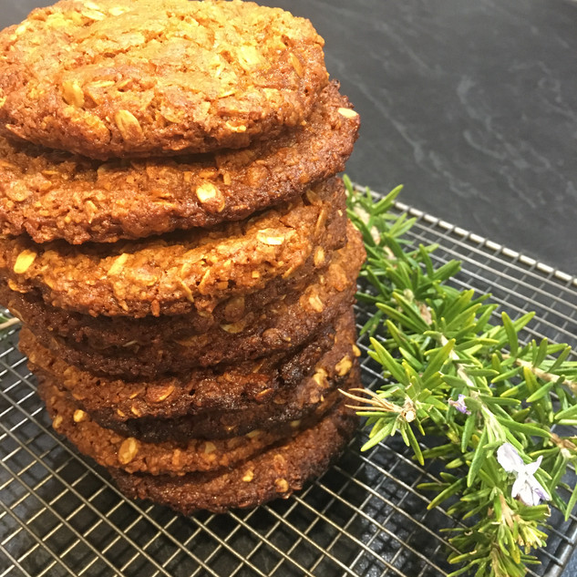 Giant chewy ANZAC cookies