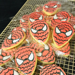 Spiderman party favours