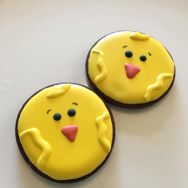 Chicks from farm theme platter