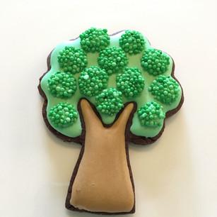 Abundant fruit tree from farm theme platter