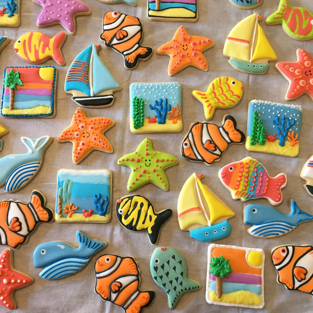Ocean theme platter
