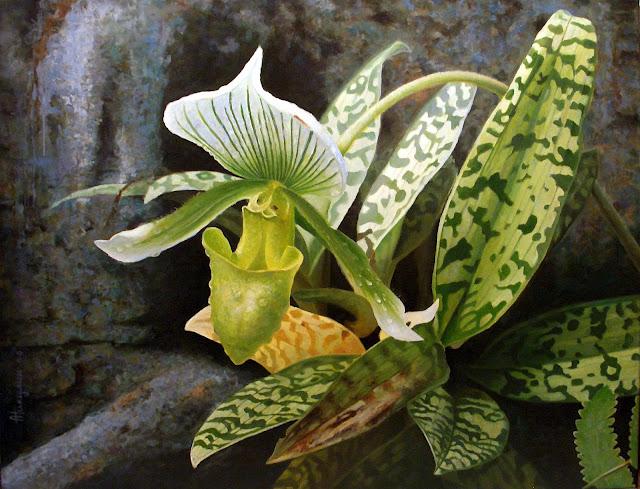 Дикая орхидея II 100х130