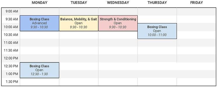 KOPD_Class_Schedule