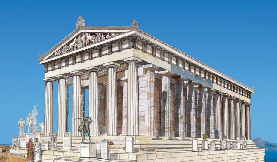 Reconstrucción templo de Poseidón