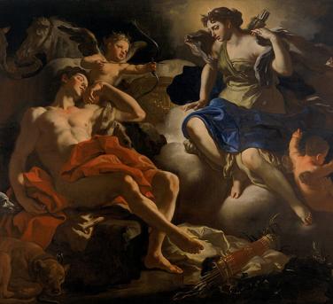 Diana y Endymion