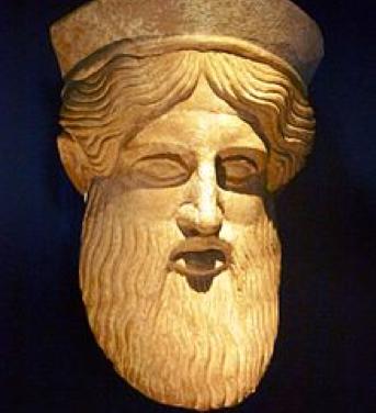 Máscara de culto de Dionisio