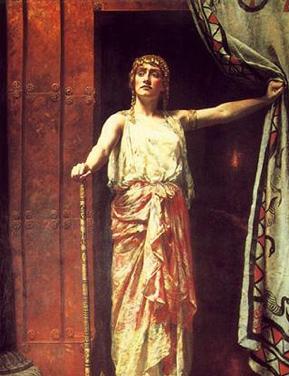 Clitemnestra después de matar a Agamenón