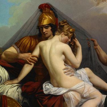 Afrodita y Ares en el lecho de Hefesto