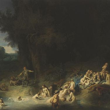 Diana bañándose con sus ninfas