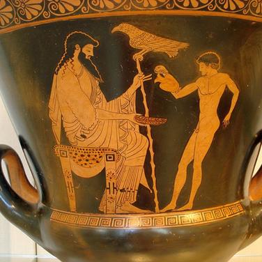 Zeus servido por Ganimedes