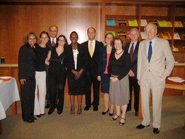 Archer aDroit CEO with legal scholars.
