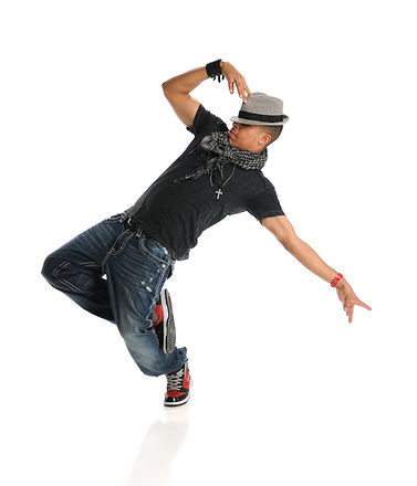 Hip hop dancer performing isolated over