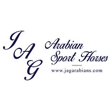 JAG Arabian Sport Horses logo with websi