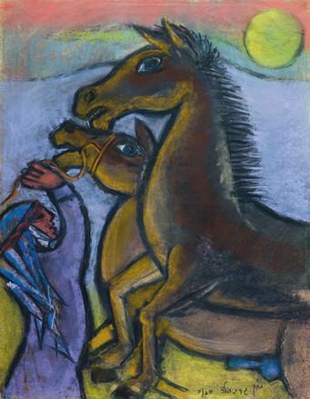 Bedouin and Horses