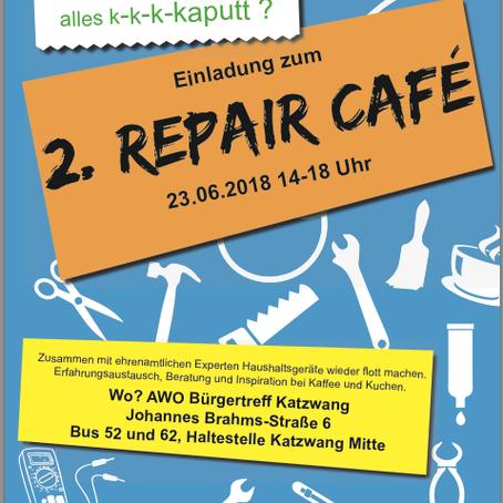 2. Repaircafé am Samstag, den 23.06.2018!