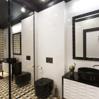 Геометрия в интерьере ванной