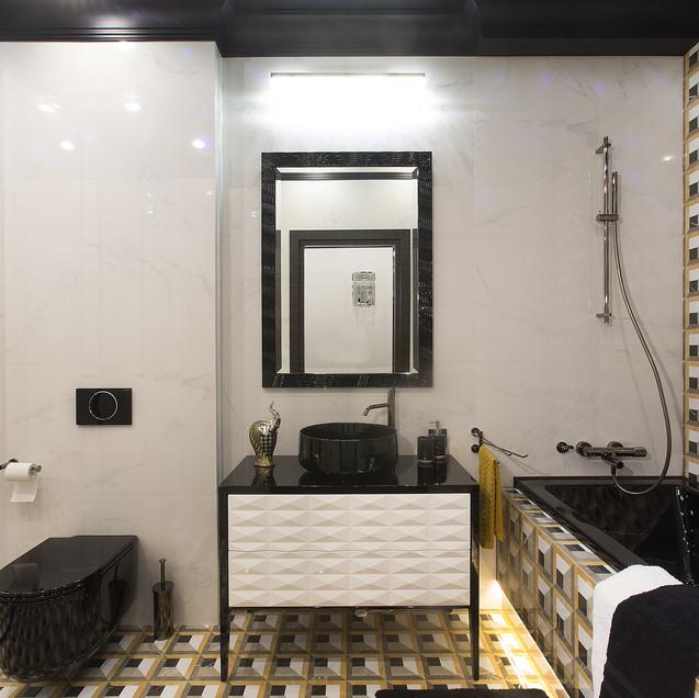 Геометрия в интерьере ванной комнаты