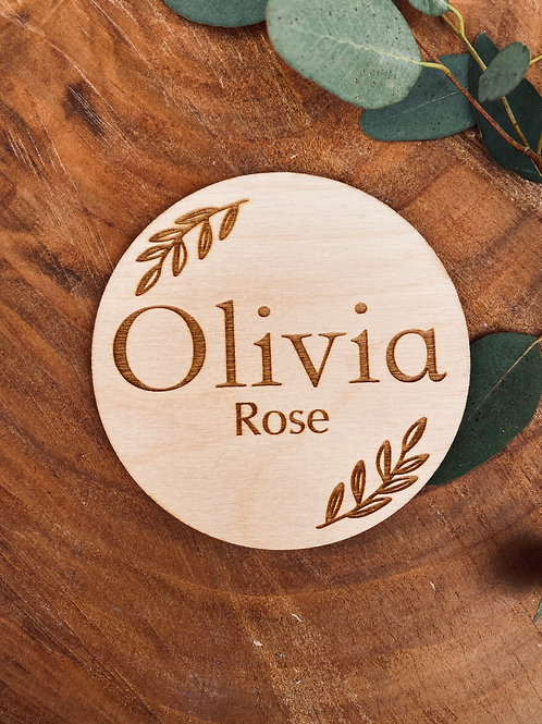 """""""Personalised"""" Wooden Name Disc"""