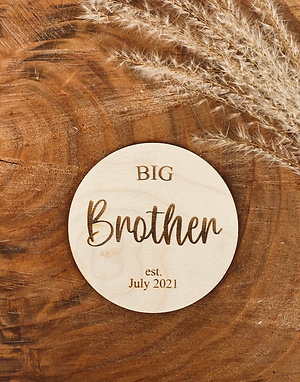 """""""Big Brother"""" Wooden Disc"""
