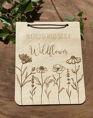 """""""Wildflower"""" Wall Hanging Plaque"""