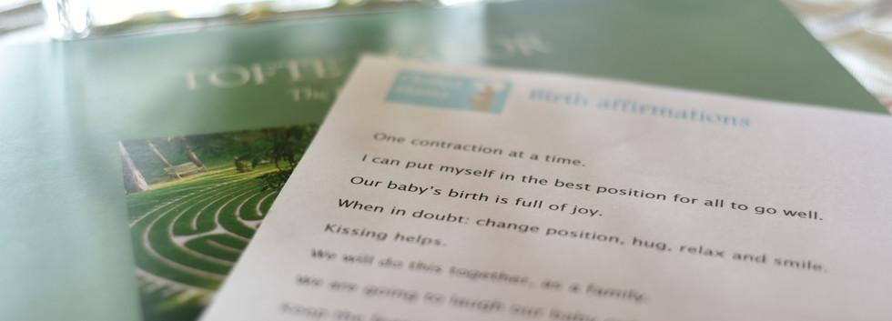 pregnancy retreat day affirmations