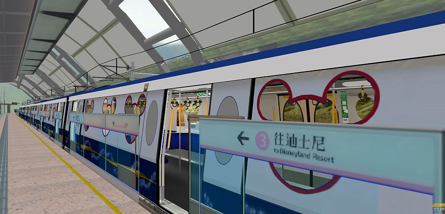 Openbve MTR Disneyland Resort Line ‧ (K2) BVE Trainsim