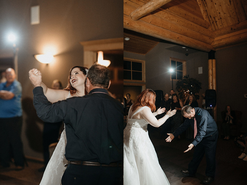Duluth Wedding Photographer - The Autumn Dog Studio -  bride dancing and celebrating with dad