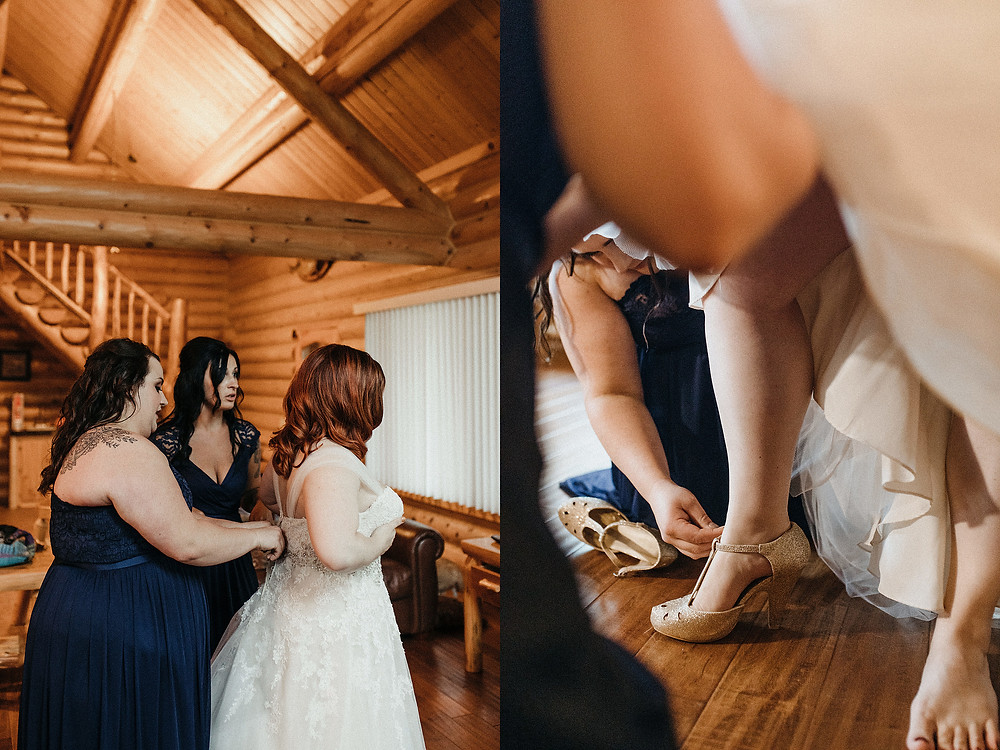 Duluth Wedding Photographer - The Autumn Dog Studio -  bride getting dressed
