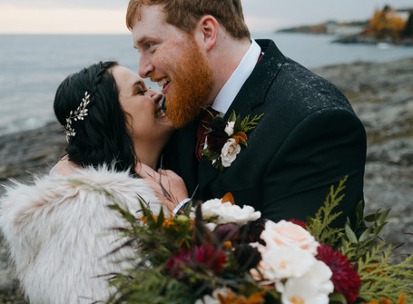 North Shore Intimate Elopement | Tofte, MN | Abby + Kolt