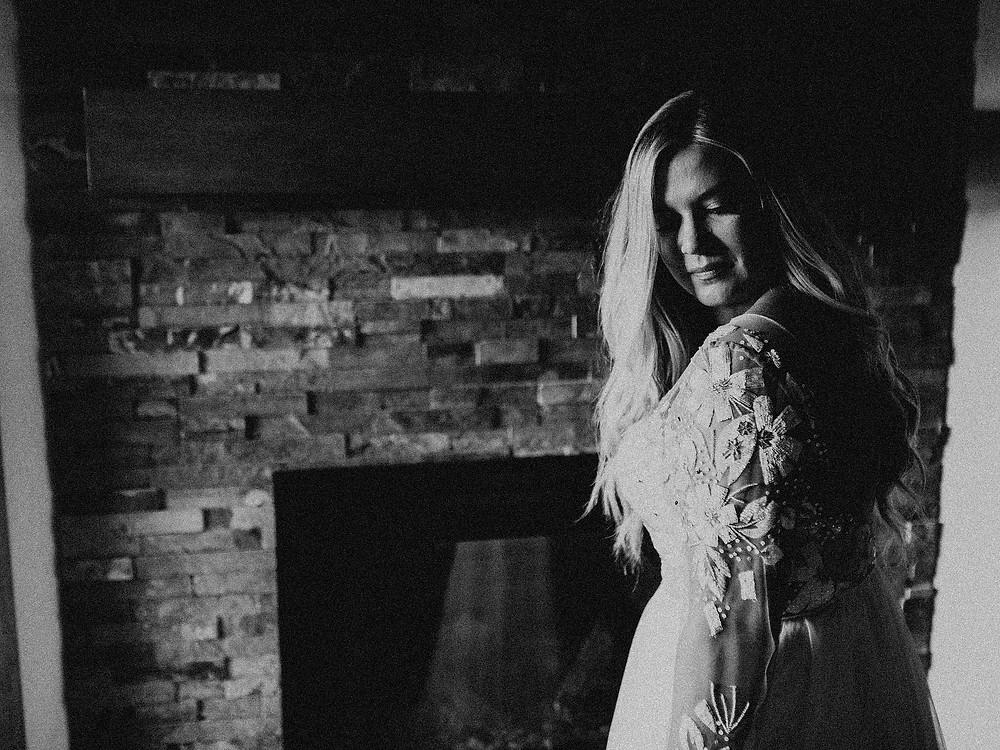 Summit Chalet Wedding - Duluth Wedding Photographer - bride getting dressed