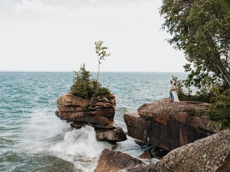 Minimal Madeline Island Elopement | Madeline Island, WI | Ashley + Jonathan