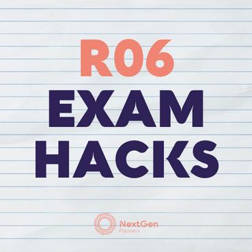 Exam hacks ahead of R06