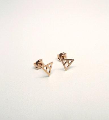 Prism Studs - Rose Gold