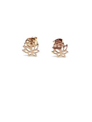 Lotus Studs - Rose Gold