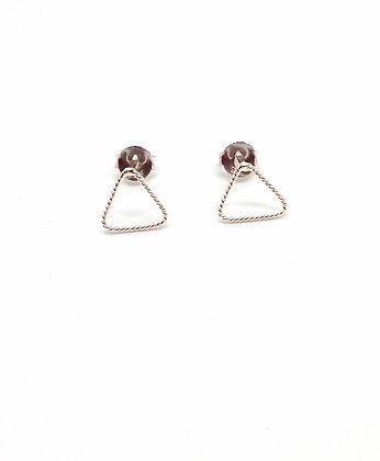 Silver Rope Studs - Triangle