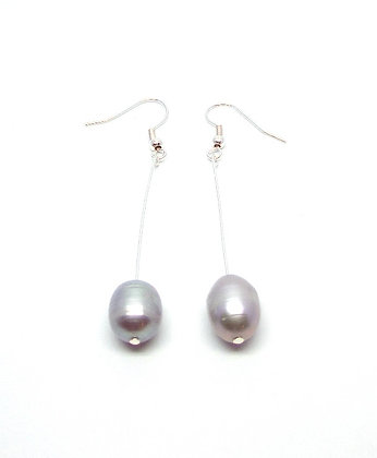 Maree Pearl Earrings - Grey