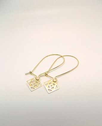 Conundrum Earrings - Gold