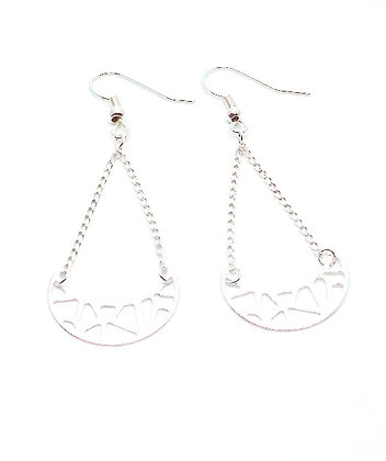 Crescent Earrings - Silver