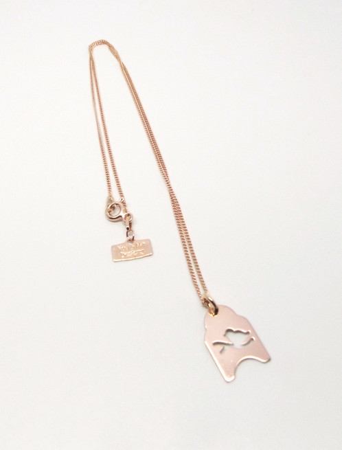 Rose gold bird of paradise necklace you me designs the gold bird of paradise necklace is the perfect design to stack with made from 24ct gold vermeil the gold vermeil plating is over solid sterling silver aloadofball Images